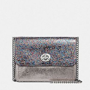 Coach Glitter Metallic Bowery Chain Crossbody